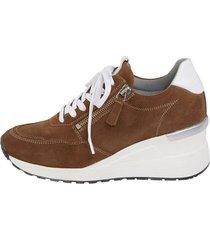 skor med snörning och dragkedja naturläufer konjak