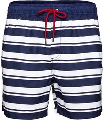 striped swim shorts badshorts blå sebago