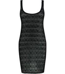 shiwi jurk crochet zwart