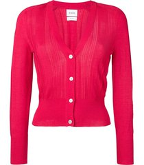 barrie classic slim-fit cardigan - pink