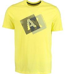 armani exchange t-shirt geel met print mf 3hztgf.zjh4z/1654