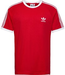 3-stripes tee t-shirts short-sleeved röd adidas originals