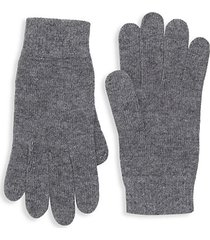ribbed trim knit gloves