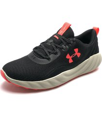 tenis lifestyle negro-beige-naranja under armour charged will