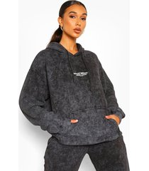 oversized acid wash gebleekte official product hoodie