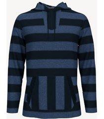 tommy hilfiger men's essential stripe beach hoodie navy - l