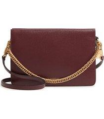 givenchy cross 3 leather crossbody bag - burgundy