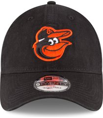 new era cap baltimore orioles casual classic baseball cap in black/orange at nordstrom
