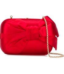 valentino pre-owned 2000s bow detail chain clutch - red