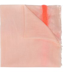 faliero sarti frayed midi scarf - orange