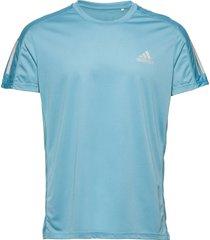 own the run tee t-shirts short-sleeved blå adidas performance