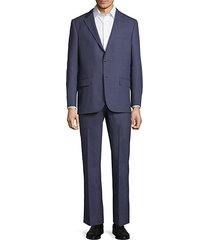 classic fit windowpane wool suit