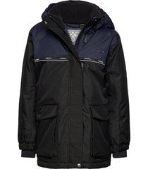 hmlwest jacket parka-jas blauw hummel