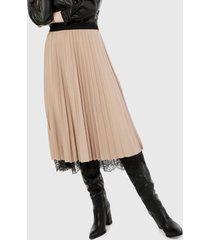 falda beige-negro paris district