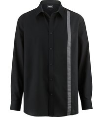 overhemd men plus zwart::donkergrijs