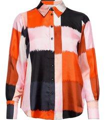 toiveikas ostjakki shirt overhemd met lange mouwen oranje marimekko
