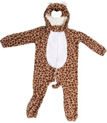 macacã£o pijama leopardo marrom - marrom - dafiti