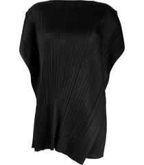 pleats please issey miyake micro-pleated mini dress - black