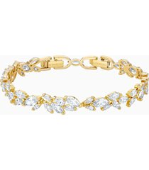 braccialetto louison, bianco, placcato oro