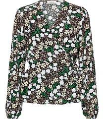 harlow print top blouse lange mouwen multi/patroon modström