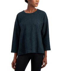 eileen fisher solid bracelet-sleeve top
