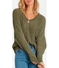 sweater higher ground verde billabong