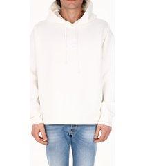 dolce & gabbana logo hoodie white