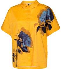 aidenn kortärmad skjorta gul ted baker