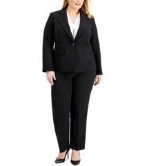 le suit plus size single-button crepe pantsuit