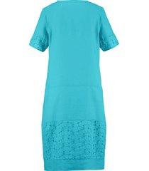 jurk van anna aura turquoise