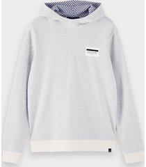 scotch & soda cotton-blend reversible long sleeve hoodie