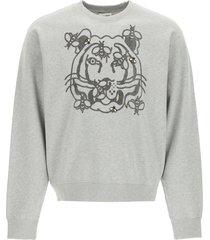 kenzo bee a tiger print sweatshirt