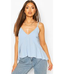 waterfall front cami top, blue