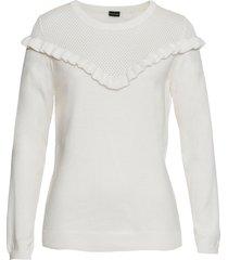 maglione con ruches (bianco) - bodyflirt