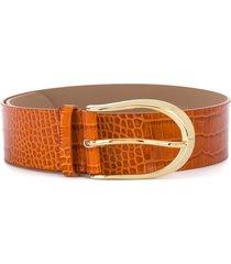b-low the belt erin crocodile-effect waist belt - brown