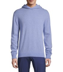 greyson men's hooded wool & cashmere-blend sweater - loden heather - size xxl