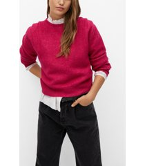 mango women's pleated knit sweater