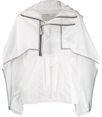 a-cold-wall* hooded cape jacket - white