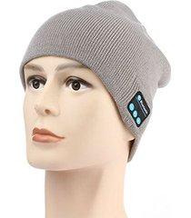gorro de lana de unisex como audifonos de bluetooth e-thinker - gris