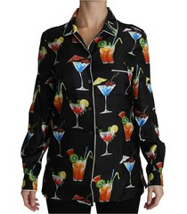 longsleeve cocktail print top shirt