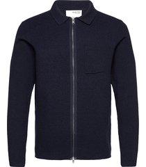 slhwill cardigan b stickad tröja cardigan blå selected homme