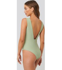na-kd swimwear baddräkt - green