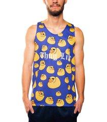 camiseta mxc brasil regata thug life ducks patos azul