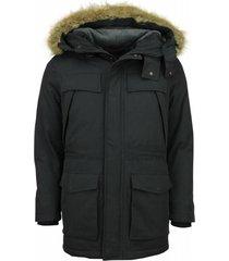 parka heren - winterjas heren parka - lange jas - zwart
