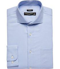 pronto uomo blue patterned modern fit dress shirt