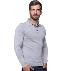 camisa polo basic le tisserand cinza