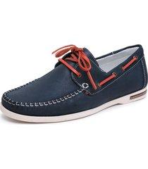 sapatenis casual docksider drive sapatilha conforte - azul marinho - masculino - couro legãtimo - dafiti
