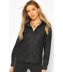 denim western shirt, black