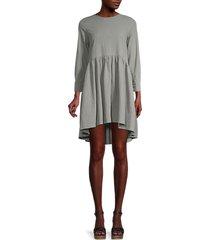 stellah women's high-low mini dress - sage - size s