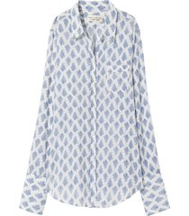 nl shirt in blue/white paisley